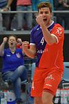 02.12.2017,  Hamburg GER, VBL, SVG Lueneburg vs United Volleys Rhein-Main  im Bild Patrick Steuerwald (Rhein-Main #04) jubelt / Foto © nordphoto / Witke