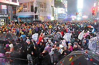 "NEW YORK - DECEMBER 31: Times Square during ""FOX'S New Years Eve with Steve Harvey: Live From Times Square"" on December 31, 2018 in New York City. (Photo by Stephen Smith/Fox/PictureGroup)"