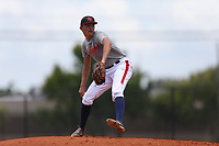 Hunter Mink (60) of Palm Harbor University High School in Palm Harbor, Florida during the Under Armour Baseball Factory National Showcase, Florida, presented by Baseball Factory on June 12, 2018 the Joe DiMaggio Sports Complex in Clearwater, Florida.  (Nathan Ray/Four Seam Images)
