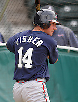 May 8, 2008: Infielder Michael Fisher (14) of the Rome Braves, Class A affiliate of the Atlanta Braves, prior to a game against the Greenville Drive at Fluor Field at the West End in Greenville, S.C. Photo by:  Tom Priddy/Four Seam Images