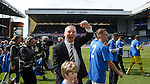 Ally McCoist applauds the Rangers fans