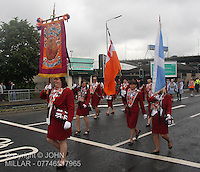 Govan District 42  returning from the County Grand Orange Lodge of Glasgow Parade 2012 which took place in Glasgow on 7.7.12..