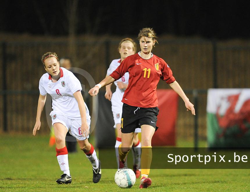 Belgium U19 - Wales U19 : Ellen Charlier<br /> foto David Catry / nikonpro.be