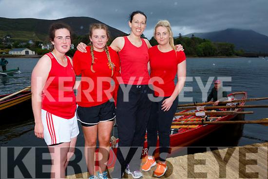 Valentia Claimed gold at the OTW Regatta on Sunday in Cahersiveen in the Ladies Seniors race pictured here l-r; Ciara Lyne, Amy Lyne, Kate Griffin, Chloe Lyne and cox Dermot Walsh.  Callinafercy came in second followed by Caherdaniel in third.