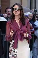 www.acepixs.com<br /> April 18, 2017 New York City<br /> <br /> Anne Hathaway made an appearance on 'The View' in New York City on April 18, 2017.<br /> <br /> Credit: Kristin Callahan/ACE Pictures<br /> <br /> <br /> Tel: 646 769 0430<br /> Email: info@acepixs.com