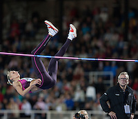 SHKOLINA Svetlana (RUS) takes first place in the Women's High Jump clearing 1.98m in her first attempt at the IAAF Diamond League meeting in Stockholm.