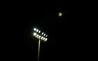 Yeovil Town floodlight as the Moon shines in the background during the Sky Bet League 2 match between Yeovil Town and Wycombe Wanderers at Huish Park, Yeovil, England on 24 November 2015. Photo by Andy Rowland.