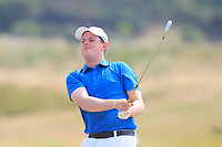 Matthew McClean (Malone) on the 15th tee during Round 2 - Strokeplay of the North of Ireland Championship at Royal Portrush Golf Club, Portrush, Co. Antrim on Tuesday 10th July 2018.<br /> Picture:  Thos Caffrey / Golffile