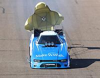 Feb 23, 2019; Chandler, AZ, USA; NHRA funny car driver Tommy Johnson Jr during qualifying for the Arizona Nationals at Wild Horse Pass Motorsports Park. Mandatory Credit: Mark J. Rebilas-USA TODAY Sports