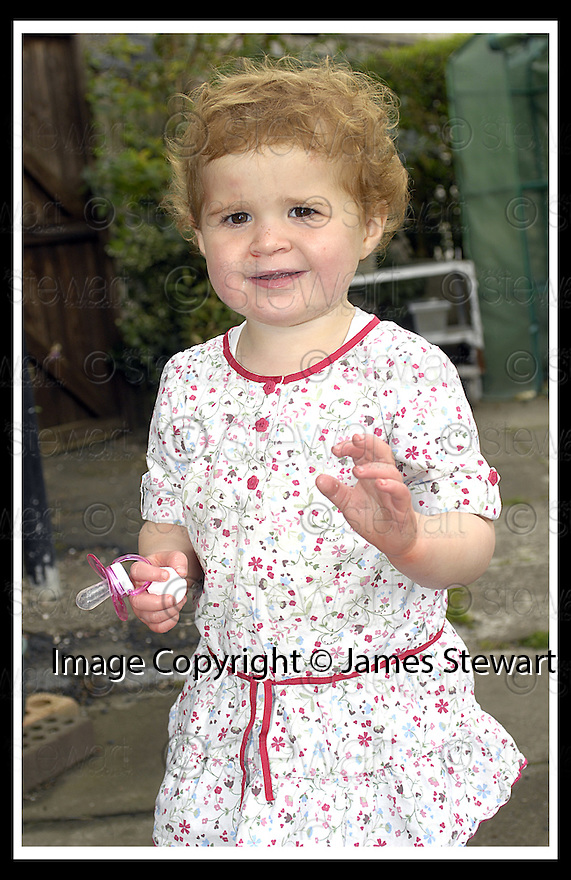 25/10/2007       Copyright Pic: James Stewart.File Name : sct_jspa04_rebekah_dunsmore.MIRACLE TODDLER REBEKAH DUNSMORE WHO TOOK PART IN A CHARITY WALK RAISING £1300 FOR THE MENINGITIS TRUST.....(see copy from George Mair).....James Stewart Photo Agency 19 Carronlea Drive, Falkirk. FK2 8DN      Vat Reg No. 607 6932 25.Office     : +44 (0)1324 570906     .Mobile   : +44 (0)7721 416997.Fax         : +44 (0)1324 570906.E-mail  :  jim@jspa.co.uk.If you require further information then contact Jim Stewart on any of the numbers above........