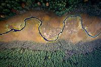 The Brda River runs through a valley near Tuchola.