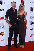 HOLLYWOOD, LOS ANGELES, CA, USA - SEPTEMBER 06: Timothy V Murphy, Caitlin Manley arrive at the Los Angeles Premiere Of FX's 'Sons Of Anarchy' Season 7 held at the TCL Chinese Theatre on September 6, 2014 in Hollywood, Los Angeles, California, United States. (Photo by David Acosta/Celebrity Monitor)