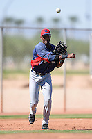 Cleveland Indians third baseman Yandy Diaz (11) during an Instructional League game against the Seattle Mariners on October 1, 2014 at Goodyear Training Complex in Goodyear, Arizona.  (Mike Janes/Four Seam Images)