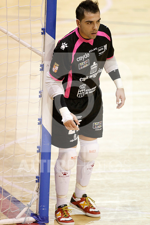 Caja Segovia's Jesus Herrero during Spanish National Futsal League match.November 24,2012. (ALTERPHOTOS/Acero)