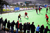 Action from the National Senior Men's Hockey Tournament semifinal between Wellington and Canterbury at National Hockey Stadium in Wellington, New Zealand on Friday, 22 October 2017. Photo: Dave Lintott / lintottphoto.co.nz
