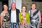 CEILÍ: Enjoying the Sweet May Ceilí in the Earl of Desmond Hotel, Tralee on Saturday evening l-r: Ann Mangan and Michjael Moynihan (Killarney,mary Clifford (Carragh Lake) and Bernie Byrne (Miltown).