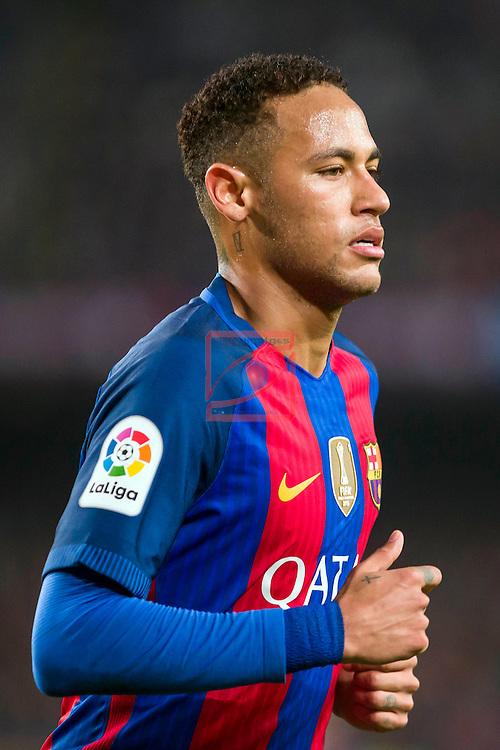 League Santander 2016/2017. Game: 14.<br /> FC Barcelona vs Real Madrid: 1-1.<br /> Neymar Jr.