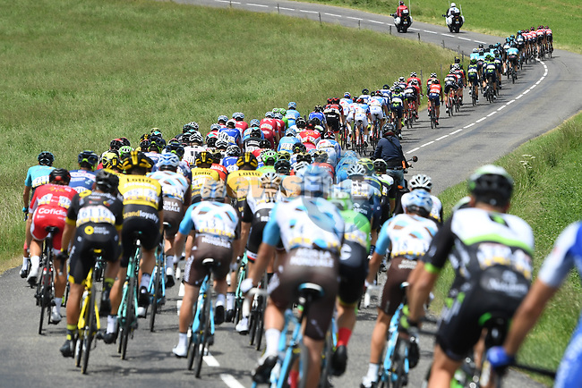 The peloton in action during Stage 2 of the Criterium du Dauphine 2017, running 171km from Saint-Chamond to Arlanc, France. 5th June 2017. <br /> Picture: ASO/A.Broadway | Cyclefile<br /> <br /> <br /> All photos usage must carry mandatory copyright credit (&copy; Cyclefile | ASO/A.Broadway)