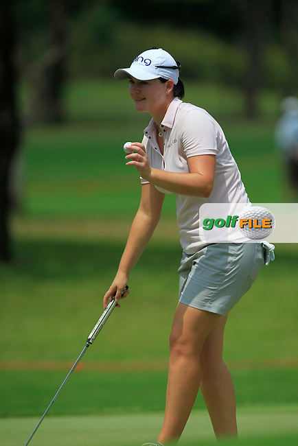 Caroline Masson (GER) on the 10th green during Round 1 of the Honda LPGA Thailand on Thursday 23rd February 2017.<br /> Picture:  Thos Caffrey / Golffile