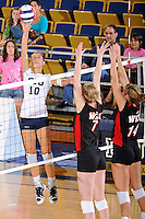 16 October 2010:  FIU outside hitter Marija Prsa (10) hits a kill shot in the third set as the Western Kentucky Hilltoppers defeated the FIU Golden Panthers, 3-2 (25-19, 23-25, 25-20, 25-27, 15-13), at the U.S Century Bank Arena in Miami, Florida.