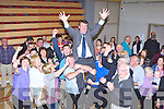 John Sheahan celebrates with his family and friends after being elected in the Killarney Area on Sunday evening