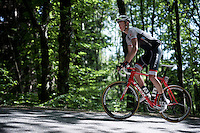 highest number in the race (219),Calvin Watson (AUS/Trek Factory Racing), up the Monte Ologno (1168m)<br /> <br /> Giro d'Italia 2015<br /> stage 18: Melide (SUI) - Verbania (170km)