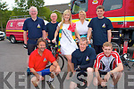 The Kerry Rose Veronica Hunt with member's of the Kerry Mountain Rescue at Killarney Fire Station for the charity cycle in aid of Kerry Mountain Rescue and Kerry Hospice on Saturday front l-r: John O'Sullivan, Sean Tangney and Sean Lally. Back l-r: Brendan Coffey, Liam Ryan, Kerry Rose Veronica Hunt, Marie Kishoe and Don Murphy.