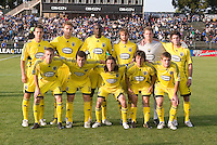 10 May 2008: Crew's starters pose together for a group picture before the game against the Earthquakes at Buck Shaw Stadium in San Jose, California.   Columbus Crew defeated San Jose Earthquakes, 3-2.