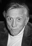 Kirk Douglas  after attending a Broadway show on October 1, 1980 in New York City.