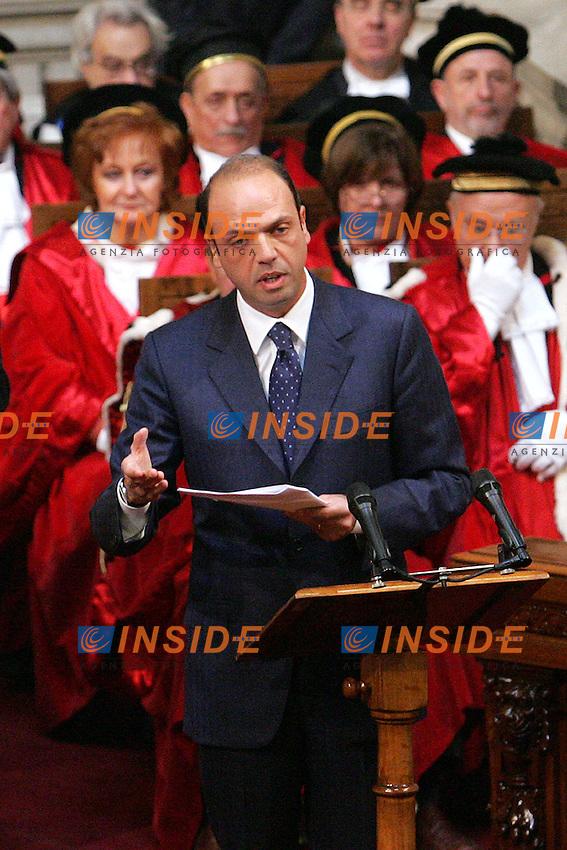 ANGELINO ALFANO MINISTER OF JUSTICE<br /> Roma 29/01/2010 Inaugurazione dell'Anno Giudiziario alla Corte di Cassazione.<br /> Opening of the Judicial Year.<br /> Photo Samantha Zucchi Insidefoto