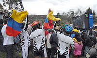 CÓMBITA-BOYACÁ -COLOMBIA-21-JULIO-2013.Celebración de familiares y boyacences por los tres títulos obtenidos por Nairo Quintana el  Tour de Francia número 100,el segundo puesto en la general, el primer puesto en la montaña y el mejor novato del tour.Celebration of family and boyacences by the three titles won by Nairo Quintana's Tour de France number 100, the second place overall, first place in the mountains and the best rookie of the tour.<br />