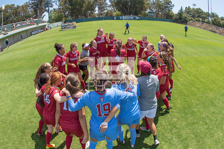 Stanford, CA - September 4, 2016:  Team  during the Stanford vs Marquette Women's soccer match in Stanford, California.  The Cardinal defeated the Golden Eagles 3-0.