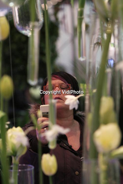 Foto: VidiPhoto..ESSEN - De internationale plantenbeurs IPM in het Duitse Essen, met meer dan 1500 exposanten vanuit de hele wereld (meer dan 40 naties). De exposanten uit Nederland waren de grootste buitenlandse participatie op de beurs. De gezamenlijke stand van 58 Nederlandse boomkwekerijen was groter dan ooit..