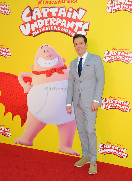 Ed Helms arriving at the Los Angeles premiere of Captain Underpants, held at the Regency Village Theater in Westwood California on May 21, 2017