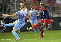 Boyds, MD - Friday Sept. 30, 2016: Francisca Ordega, Julie Johnston during a National Women's Soccer League (NWSL) semi-finals match between the Washington Spirit and the Chicago Red Stars at Maureen Hendricks Field, Maryland SoccerPlex. The Washington Spirit won 2-1 in overtime.