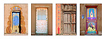Series of four New Mexico / Santa Fe decorated door photographs in one print.