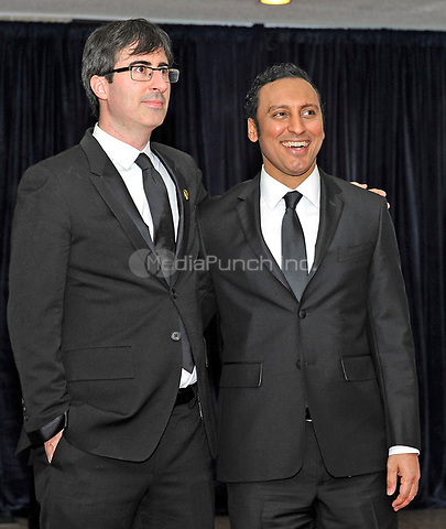 John Oliver and Aasif Mandvi arrive for the 2013 White House Correspondents Association Annual Dinner at the Washington Hilton Hotel on Saturday, April 27, 2013.<br /> Credit: Ron Sachs / CNP<br /> (RESTRICTION: NO New York or New Jersey Newspapers or newspapers within a 75 mile radius of New York City) /MediaPunch