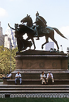 New York City: Equestrian Statue, The Plaza.