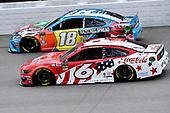 #6: Ryan Newman, Roush Fenway Racing, Ford Mustang Coca Cola and #18: Kyle Busch, Joe Gibbs Racing, Toyota Camry M&M's Hazelnut