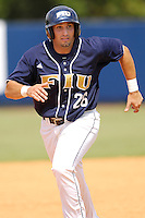 27 April 2008: Florida International third baseman Jorge Castillo (26) runs to third  base in the bottom of the fifth inning of the FIU 17-10 victory over Louisiana at Monroe at University Park Stadium in Miami, Florida.