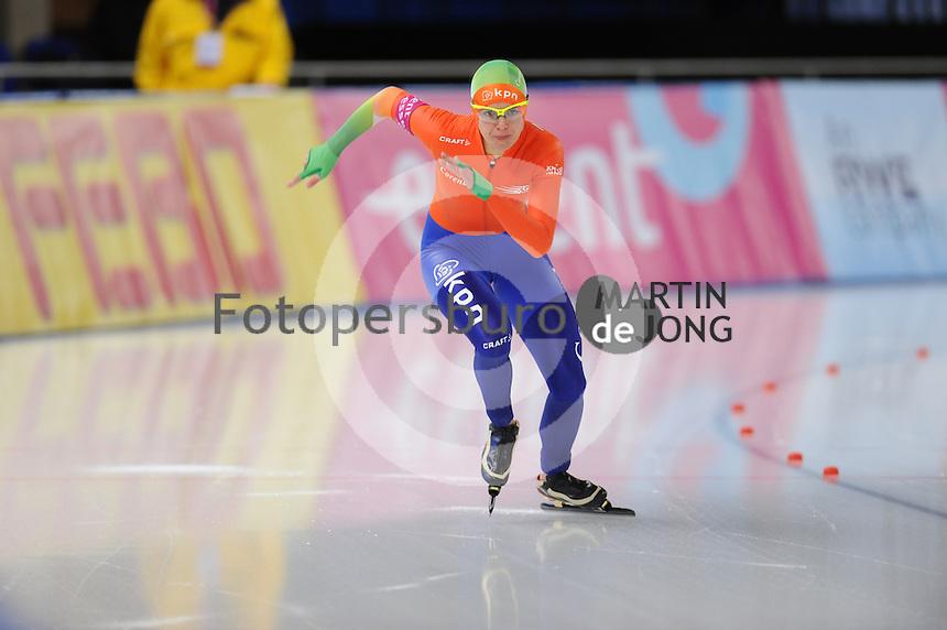 SCHAATSEN: HEERENVEEN: 25-10-2013, IJsstadion Thialf, NK afstanden, 1500m, Marrit Leenstra, ©foto Martin de Jong