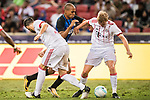 Bayern Munich Defender Felix Gotze (R) in action against FC Internazionale Midfielder Joao Mario (C) during the International Champions Cup match between FC Bayern and FC Internazionale at National Stadium on July 27, 2017 in Singapore. Photo by Weixiang Lim / Power Sport Images