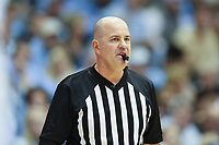 CHAPEL HILL, NC - JANUARY 4: Official Brian Dorsey during a game between Georgia Tech and North Carolina at Dean E. Smith Center on January 4, 2020 in Chapel Hill, North Carolina.