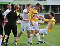 KVC Wingene - KSC Wielsbeke : vreugde bij Wielsbeke na het doelpunt van Angelito Bultynck. 0-2  (rechts - 11 )<br /> foto VDB / Bart Vandenbroucke