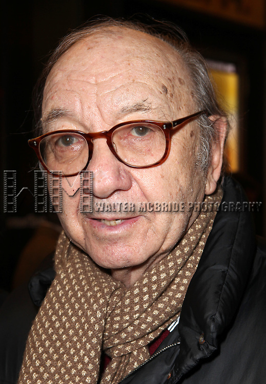 Neil Simon attending the Opening Night Performance of the Roundabout Theatre Company's Broadway Production of 'Picnic' at The American Airlines Theatre in New York City on 1/13/2013