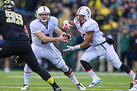 EUGENE, OR - NOVEMBER 1, 2014:  Kevin Hogan during Stanford's game against Oregon. The Ducks defeated the Cardinal 45-16.