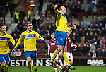 Hearts v St Johnstone...03.12.11   SPL .Dave Mackay celebrates his penalty with Murray Davidson and Marcus Haber.Picture by Graeme Hart..Copyright Perthshire Picture Agency.Tel: 01738 623350  Mobile: 07990 594431