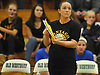 Wantagh varsity girls' volleyball head coach Katie McKeefrey watches her team during the Nassau County Class A final against Long Beach at SUNY Old Westbury on Wednesday, Nov. 11, 2015. Wantagh won 3-0.<br /> <br /> James Escher