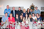 PARTY: Dr John Chute and Dr Tommy O'Regan of Fairies Cross Medical centre, Tralee (back Lt) took their staff out to Duffins bar/restaurant (previously Nancy Myles) Ballymullen, Tralee, last Saturday night for their Christmas party. Seated l-r: Mike Ryle, Annette Walsh, Margaret Spring, Treacy Brouwer, Susan McNamara, Kate O'Regan, Sheila Ryle and Jenny Crushell. Back l-r: Dr John Chute, Dr Tommy Regan, Brian Lundy, Eileen O'Connell, Deirdre Lynch, Ross Fernandez and Cahill De Lacy.