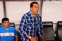 ATENCAO EDITOR: FOTO EMBARGADA PARA VEICULOS INTERNACIONAIS-RIO DE JANEIRO, RJ, 17 OUTUBRO 2012-CAMPEONATO BRASILEIRO-FLUMINENSE X GREMIO- Vanderlei Luxemburgo, tecnico do Gremio durante a partida Fluminense x Gremio valida pela 31 rodada do Campeonato Brasileiro no Estadio Joao Havelange, Engenhao, neste domingo, 30 de setembro,na zona norte do Rio de Janeiro.(FOTO:MARCELO FONSECA/ BRAZIL PHOTO PRESS).